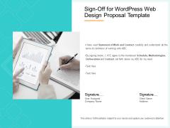 Website Revamp Quotation Sign Off For Wordpress Web Design Proposal Structure PDF