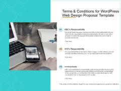 Website Revamp Quotation Terms And Conditions For Wordpress Web Design Proposal Summary PDF