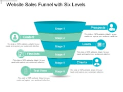 Website Sales Funnel With Six Levels Ppt PowerPoint Presentation Gallery Example