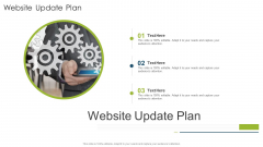 Website Update Plan Organizational Strategies And Promotion Techniques Download PDF
