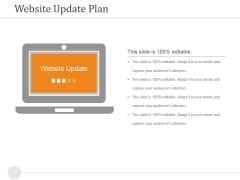 Website Update Plan Ppt PowerPoint Presentation Model Tips