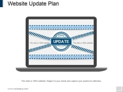 Website Update Plan Ppt PowerPoint Presentation Slides Templates