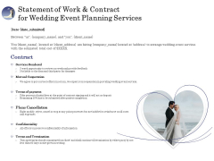 Wedding Affair Management Statement Of Work And Contract For Event Planning Services Introduction PDF