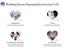 Wedding Affair Management Wedding Event Planning Service List Ideas PDF