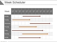 Week Scheduler Ppt PowerPoint Presentation Background Designs