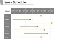 Week Scheduler Ppt PowerPoint Presentation Files