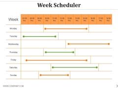 Week Scheduler Ppt PowerPoint Presentation Infographics Template