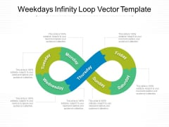 Weekdays Infinity Loop Vector Template Ppt PowerPoint Presentation Layouts Graphics Template PDF