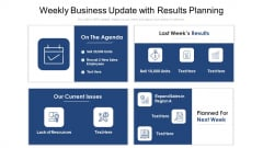 Weekly Business Update With Results Planning Ppt Outline Diagrams PDF