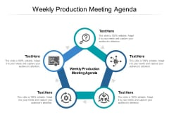 Weekly Production Meeting Agenda Ppt PowerPoint Presentation Professional Gridlines Cpb