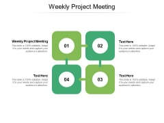 Weekly Project Meeting Ppt PowerPoint Presentation Pictures Gridlines Cpb