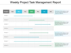 Weekly Project Task Management Report Ppt PowerPoint Presentation Icon Picture