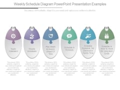 Weekly Schedule Diagram Powerpoint Presentation Examples
