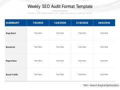 Weekly Seo Audit Format Template Ppt PowerPoint Presentation File Visual Aids