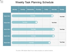Weekly Task Planning Schedule Ppt PowerPoint Presentation File Demonstration