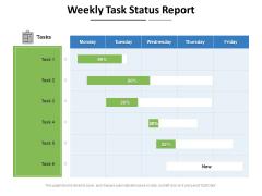 Weekly Task Status Report Ppt PowerPoint Presentation Gallery Background Designs PDF