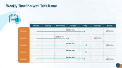 Weekly Timeline With Task Name Inspiration PDF