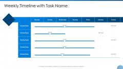 Weekly Timeline With Task Name Ppt Outline Slide Download PDF