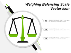 Weighing Balancing Scale Vector Icon Ppt PowerPoint Presentation Ideas Slides PDF