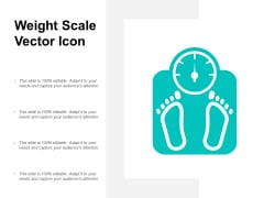 Weight Scale Vector Icon Ppt PowerPoint Presentation Gallery Demonstration
