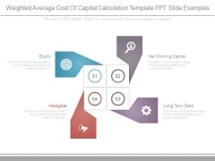 Weighted Average Cost Of Capital Calculation Template Ppt Slide Examples