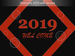 Welcome 2019 With Arrows Ppt Powerpoint Presentation Gallery Grid