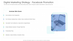 Well Being Gymnasium Sector Digital Marketing Strategy Facebook Promotion Clipart PDF