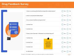 Wellness Program Promotion Drug Feedback Survey Ppt PowerPoint Presentation Ideas Example Introduction PDF