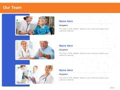 Wellness Program Promotion Our Team Ppt PowerPoint Presentation Inspiration Templates PDF