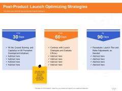 Wellness Program Promotion Post Product Launch Optimizing Strategies Ppt PowerPoint Presentation Portfolio Shapes PDF
