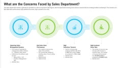What Are The Concerns Faced By Sales Department Ppt Model Objects PDF
