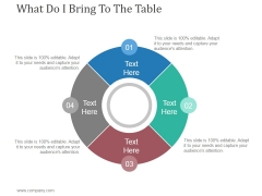 What Do I Bring To The Table Ppt PowerPoint Presentation Example
