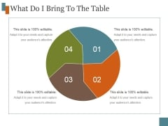 What Do I Bring To The Table Ppt PowerPoint Presentation Samples