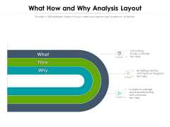 What How And Why Analysis Layout Ppt PowerPoint Presentation Show Graphics Download PDF