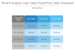 What If Analysis Data Table Powerpoint Slide Download