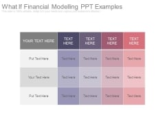 What If Financial Modelling Ppt Examples
