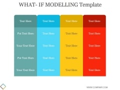 What If Modelling Template 2 Ppt PowerPoint Presentation Styles