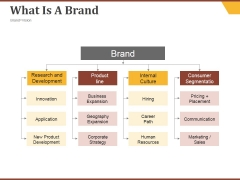What Is A Brand Ppt PowerPoint Presentation Inspiration Format Ideas
