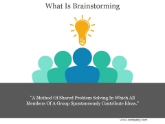 What Is Brainstorming Ppt PowerPoint Presentation Files