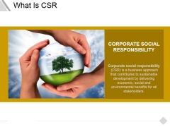 What Is Csr Ppt PowerPoint Presentation Portfolio Professional