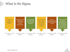 What Is Six Sigma Ppt PowerPoint Presentation Example File