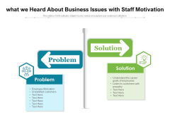 What We Heard About Business Issues With Staff Motivation Ppt PowerPoint Presentation Professional Files PDF