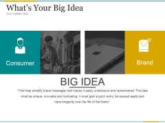 Whats Your Big Idea Ppt PowerPoint Presentation Information