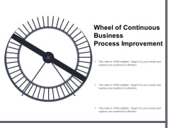 Wheel Of Continuous Business Process Improvement Ppt Powerpoint Presentation Slides Guidelines