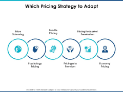 Which Pricing Strategy To Adopt Ppt Powerpoint Presentation File Gridlines
