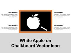 White Apple On Chalkboard Vector Icon Ppt PowerPoint Presentation Ideas Maker PDF