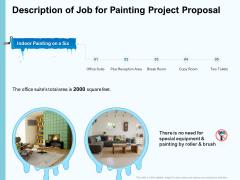 Whitewash Service Description Of Job For Painting Project Proposal Ppt Ideas Slides PDF
