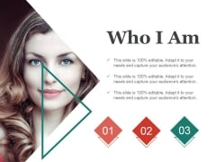 Who I Am Ppt PowerPoint Presentation Ideas Visuals