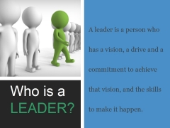 Who Is A Leader Ppt PowerPoint Presentation Design Ideas