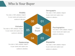 Who Is Your Buyer Ppt PowerPoint Presentation Microsoft